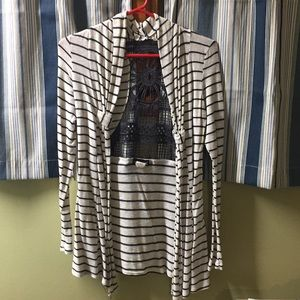 wet seal cardigan blue and cream size small